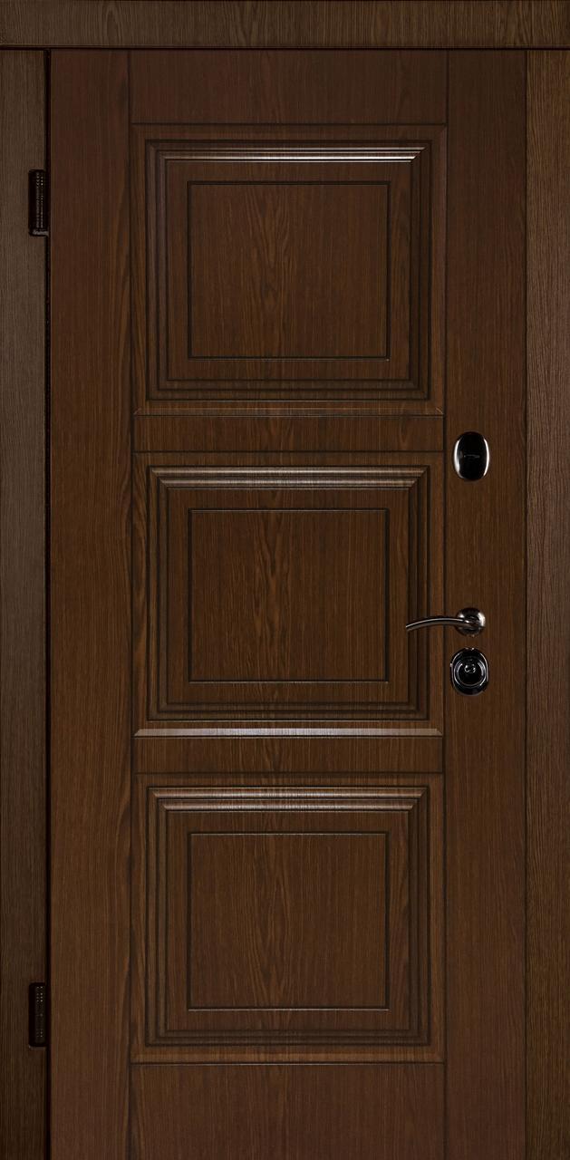 Вхідні двері Тріо 3Д дуб