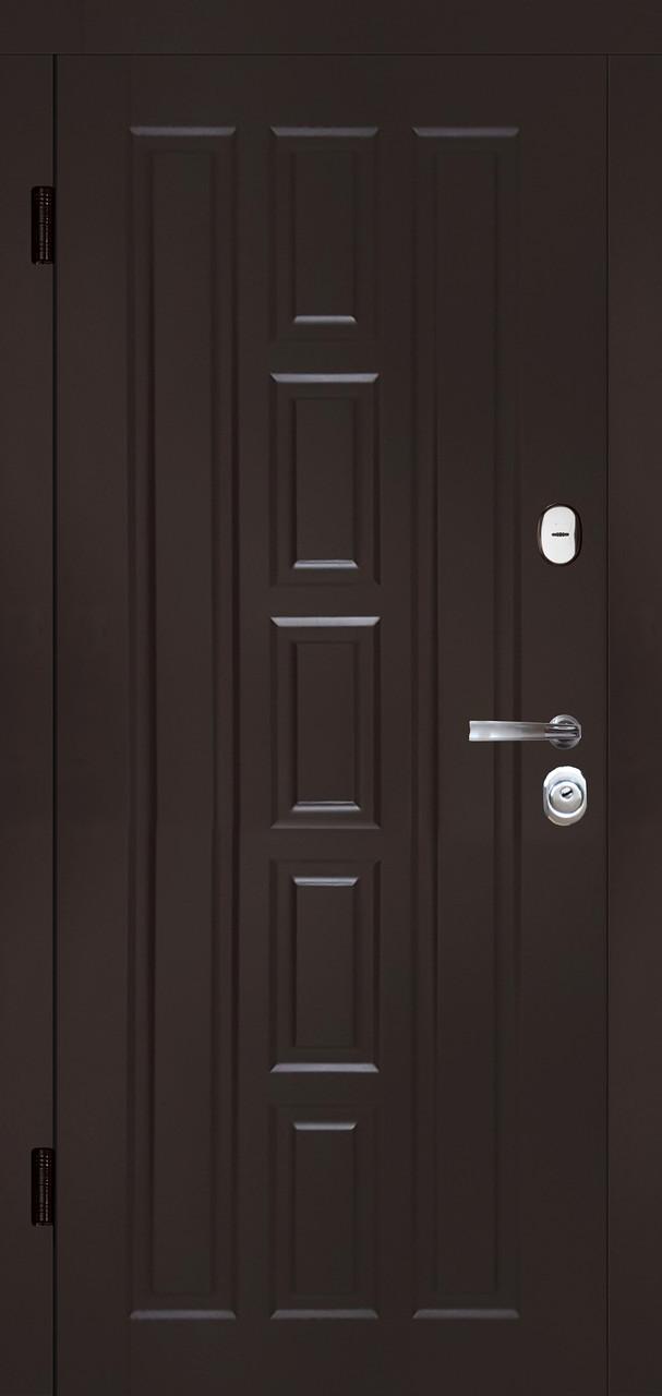 Входная дверь Квадро-В шоколад (крашенная)