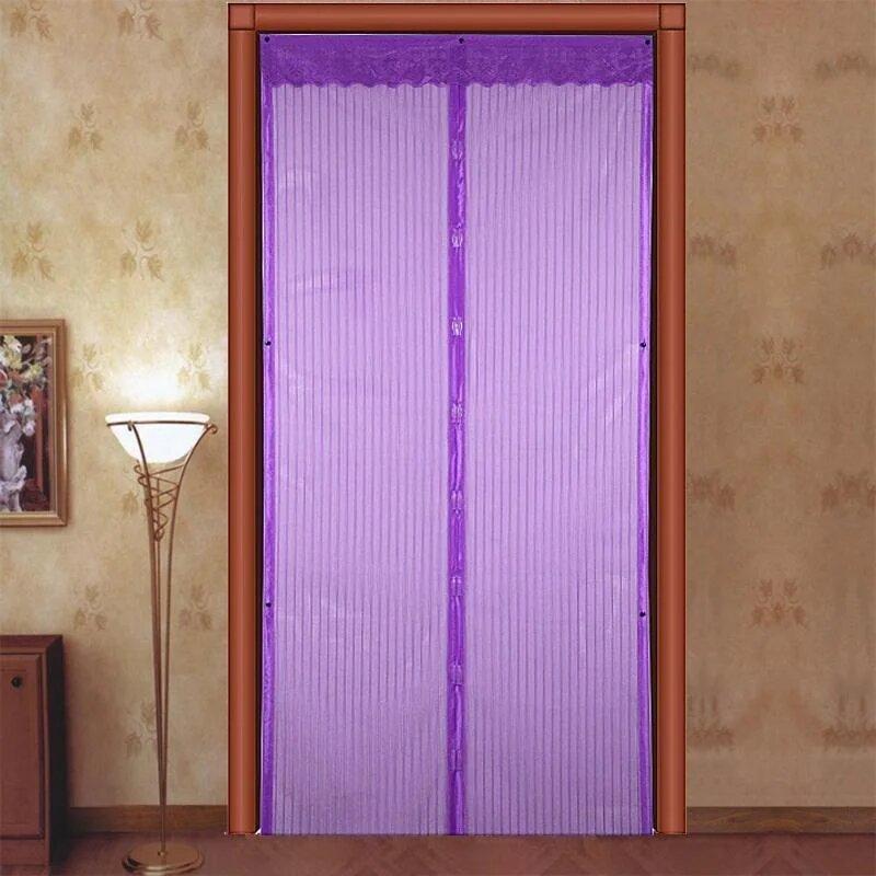 Антимоскитная сетка на дверь Magic Mesh (210*100 см.) защитная сетка штора на двери от комаров и мух