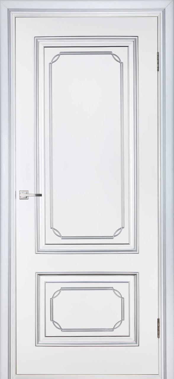 Межкомнатная дверь Серебрянка белый лак ПГ