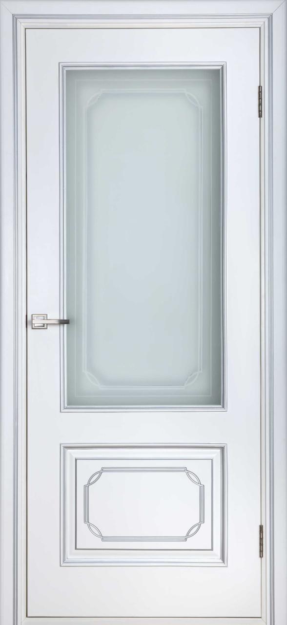 Межкомнатная дверь Серебрянка белый лак ПО
