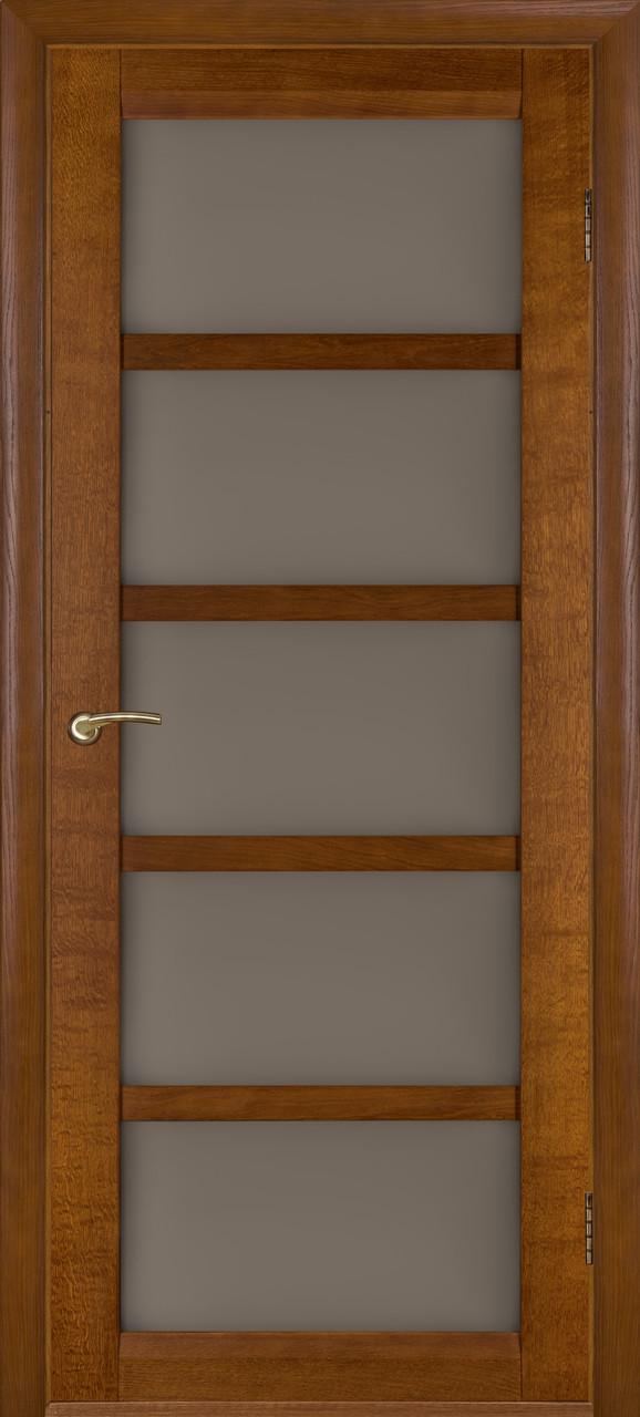 Межкомнатные двери Бристоль-У дуб темный ПО