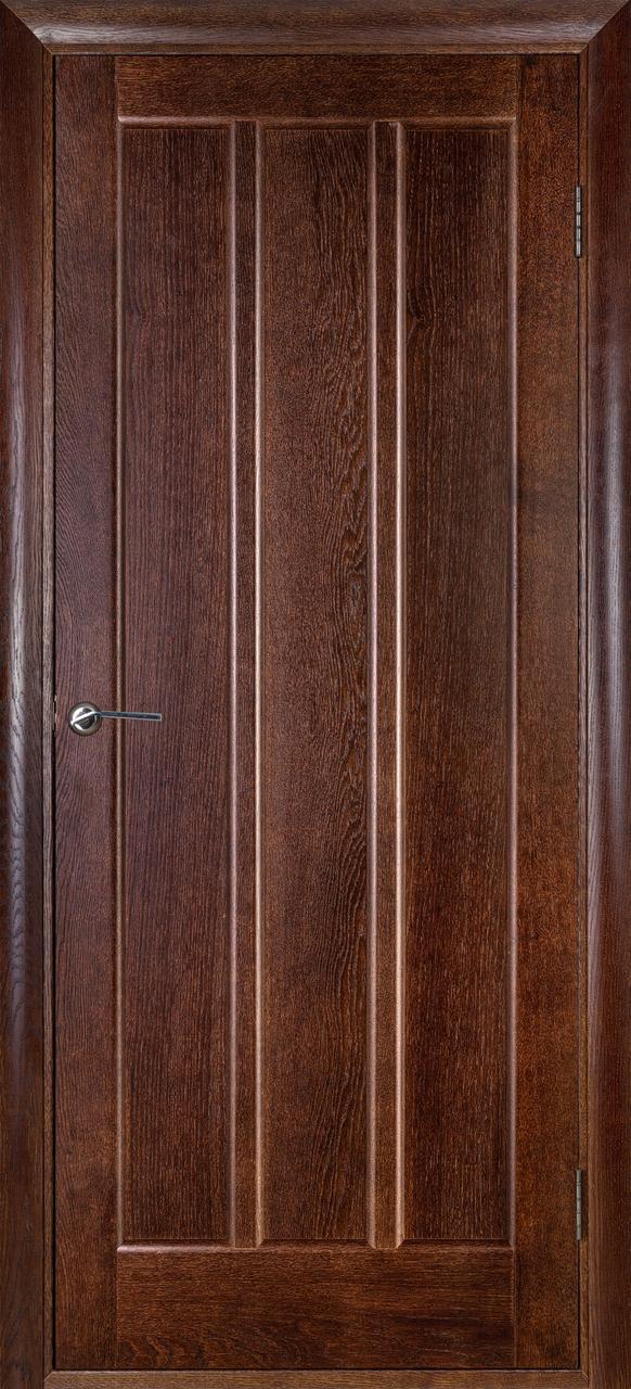 Межкомнатная дверь Троя темный орех ПГ