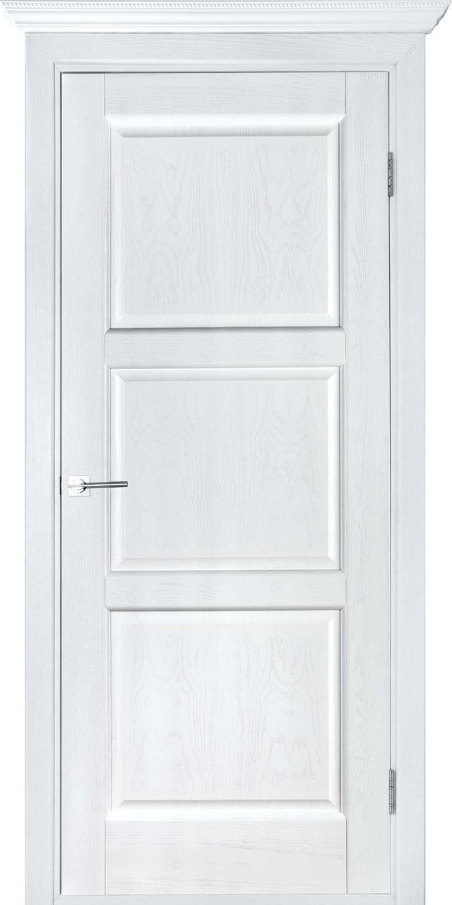 Межкомнатная дверь Лестница белый ясень ПГ