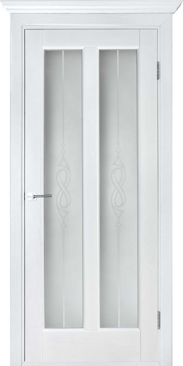 Межкомнатная дверь Дива белый ясень ПО