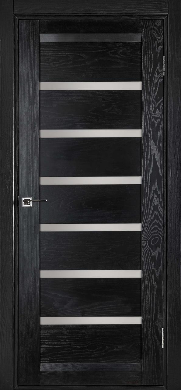 Межкомнатная дверь Бристоль чёрный ясень ПГ