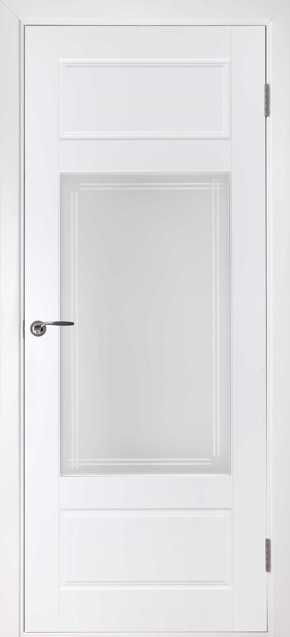 Межкомнатная дверь Барселона белая эмаль ПО
