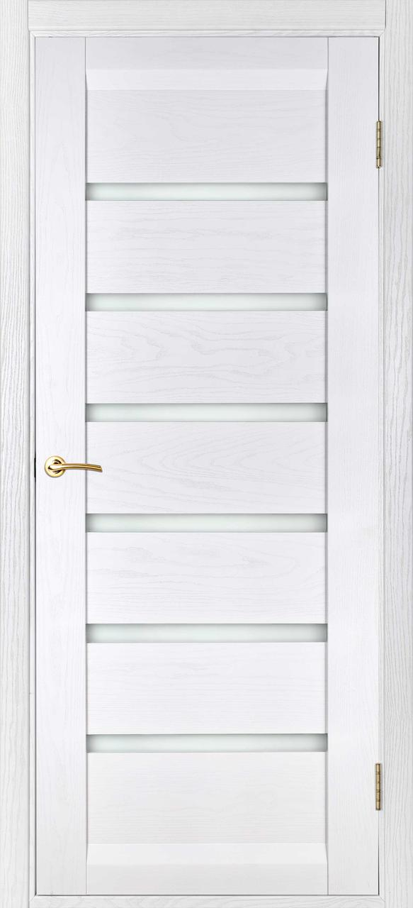 Межкомнатная дверь Бристоль белый ясень  ПГ