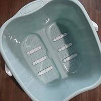 Ванночка для педикюра пластиковая с ручкой с роликами (педикюрная ванночка)