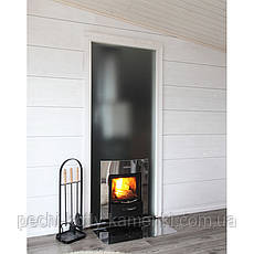 Дровяная печь Harvia 22 Duo Steel для бани и сауны с выносом с панорамным стеклом, фото 3