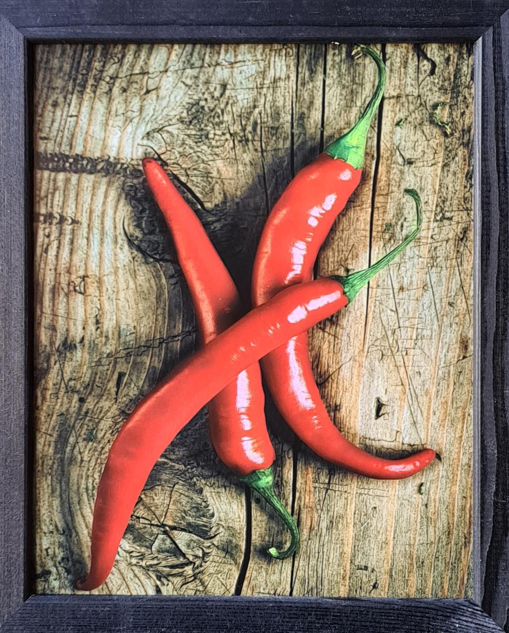 """Фотокартина в деревянной раме """"Paprika 1"""", 20х25 см"""