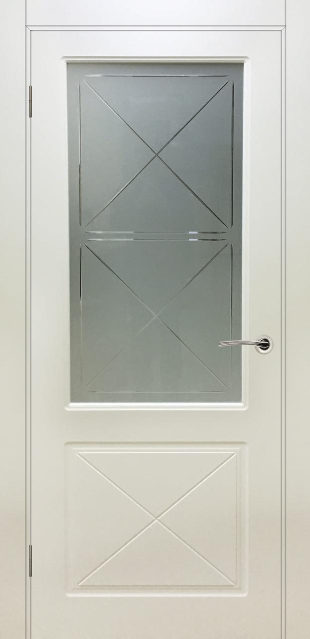 Межкомнатная дверь Лондон слоновая кость ПО