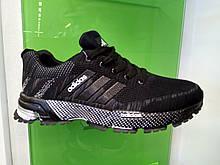 Мужские кроссовки в стиле Adidas Marathon TR Black Grey