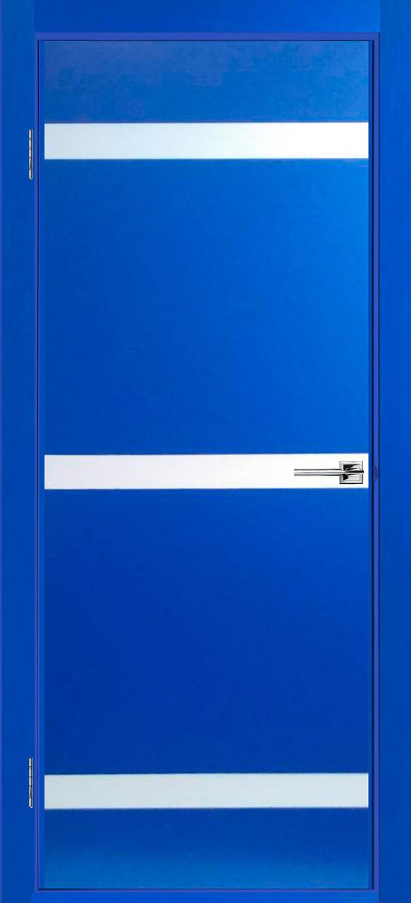 Дверь межкомнатная Индиго синяя эмаль ПГ