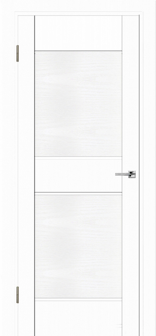 Межкомнатная дверь Прайм белый софт/структура ПГ