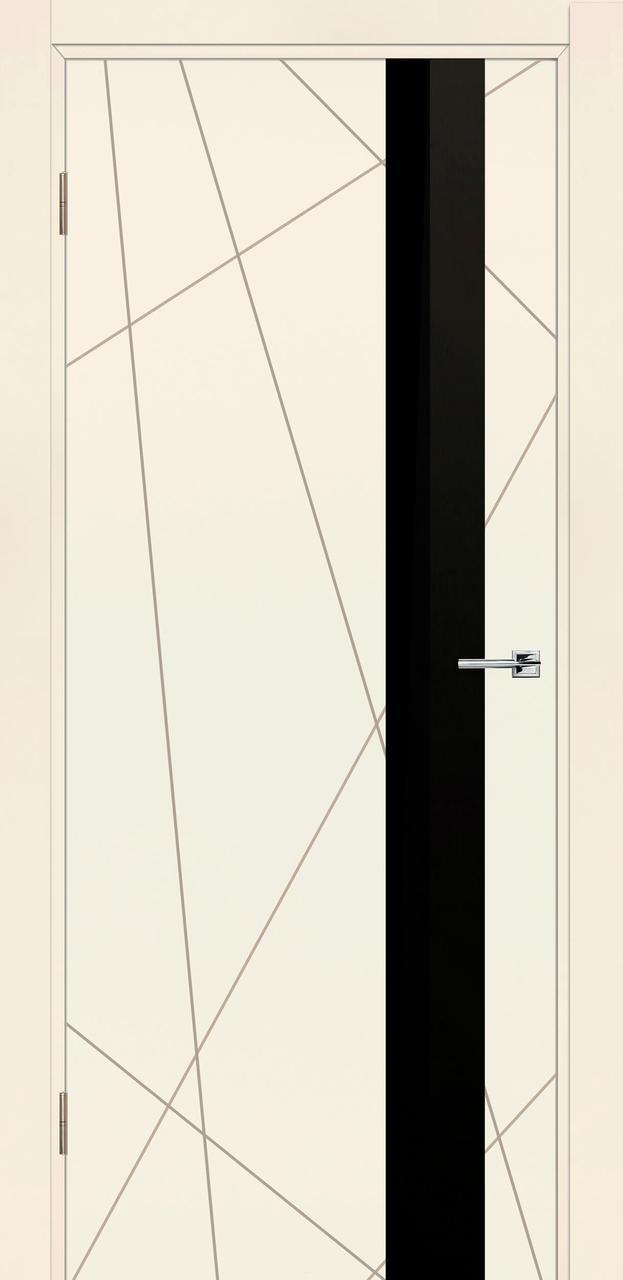 Межкомнатная дверь Геометрия эмаль беж ПО