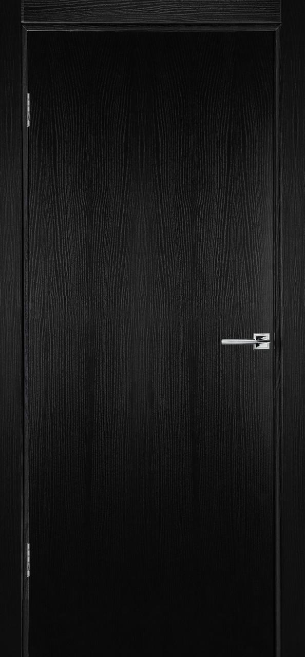 Межкомнатная дверь Флэш 1 черный ясень ПГ (противопожарная)