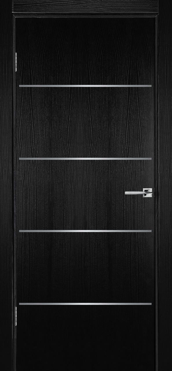 Межкомнатная дверь Флэш 2 черный ясень ПГ (противопожарная)