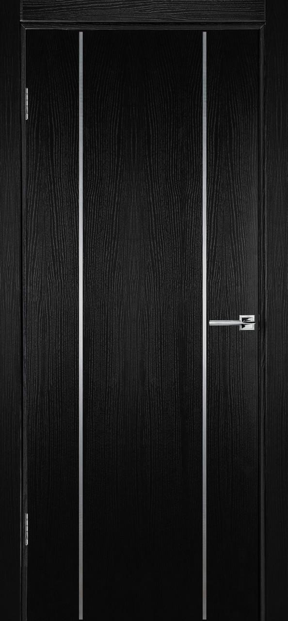 Межкомнатная дверь Флэш 3 черный ясень ПГ (противопожарная)