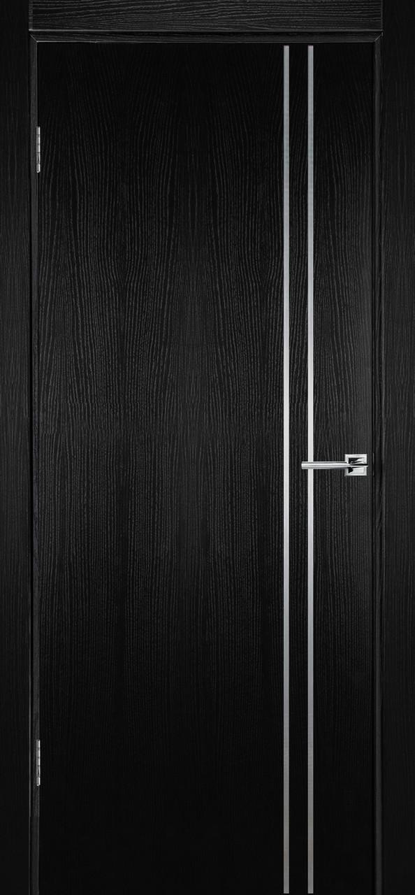 Міжкімнатні двері Флеш 4 чорний ясен ПГ (протипожежна)