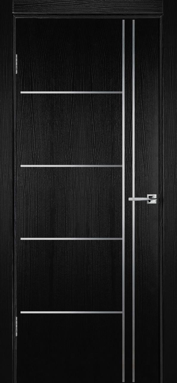 Межкомнатная дверь Флэш 5 черный ясень ПГ (противопожарная)