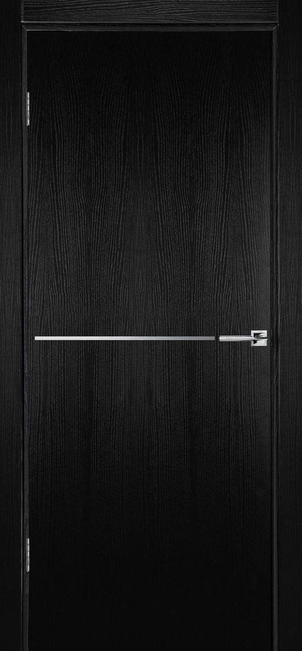 Міжкімнатні двері Флеш 6 чорний ясен ПГ (протипожежна)