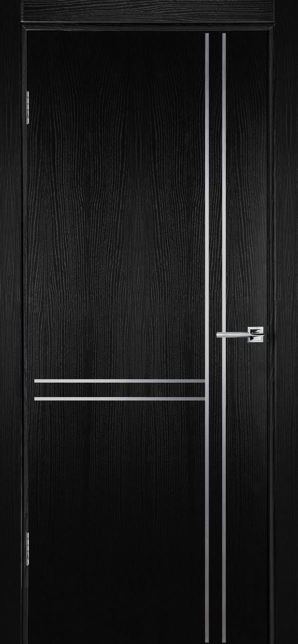 Міжкімнатні двері Флеш 7 чорний ясен ПГ (протипожежна)