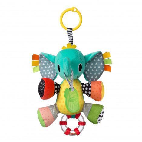 """Детская мягкая игрушка с прорезывателем """"Слоненок"""" Infantino, 21.5 x 10 x 36 см"""
