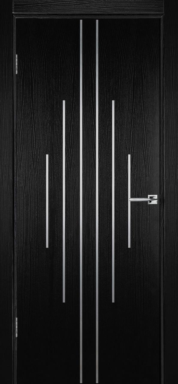 Міжкімнатні двері Флеш 11 чорний ясен ПГ (протипожежна)
