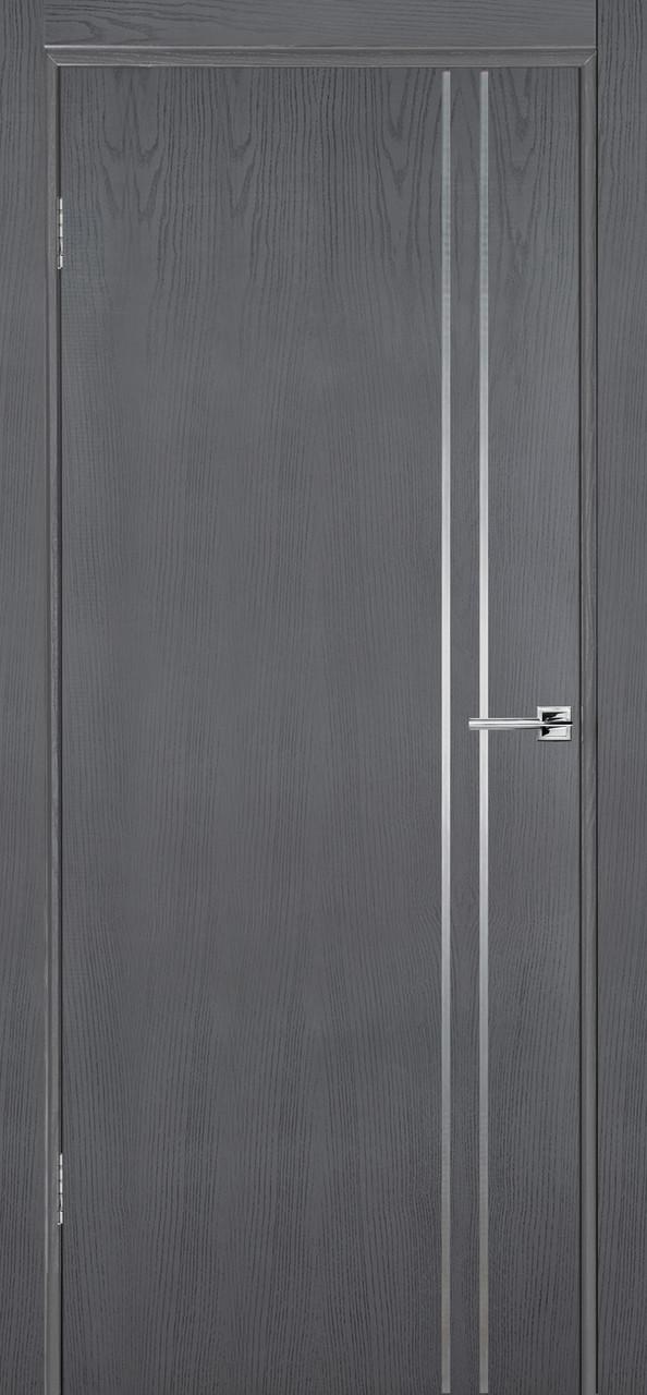 Міжкімнатні двері Флеш 4 сірий ясен ПГ (протипожежна)