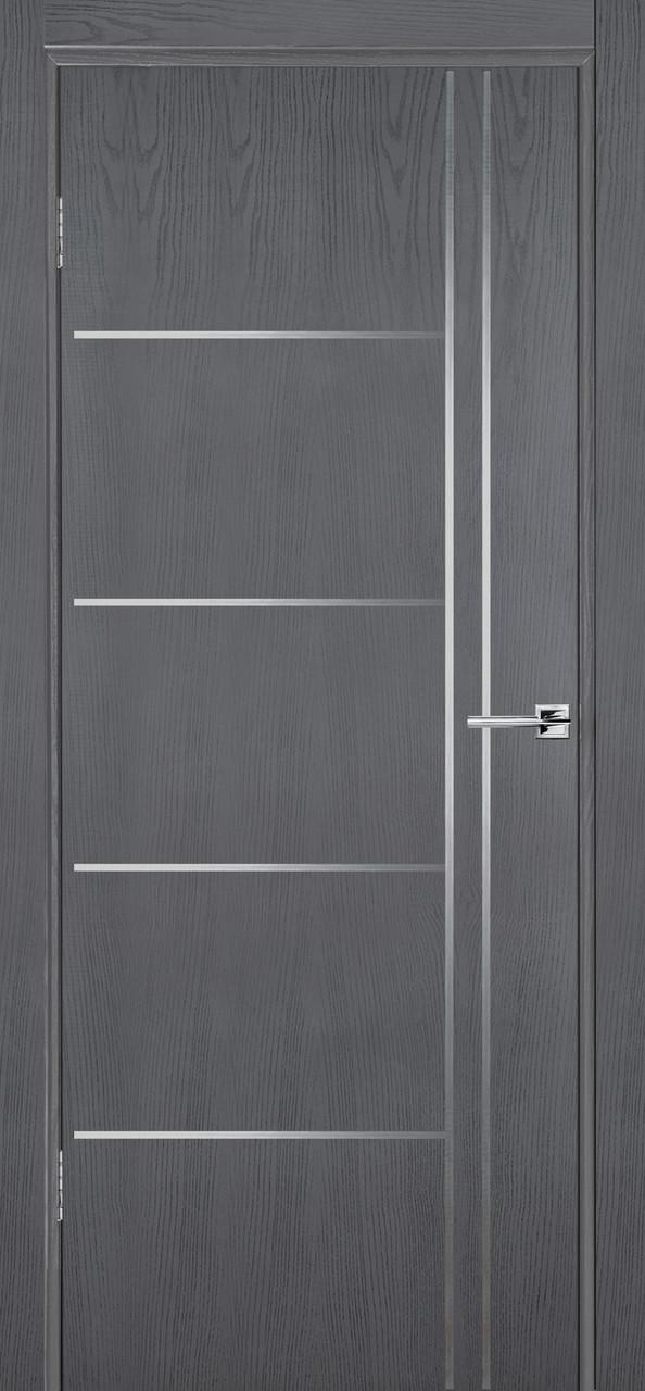 Межкомнатная дверь Флэш 5 серый ясень ПГ (противопожарная)