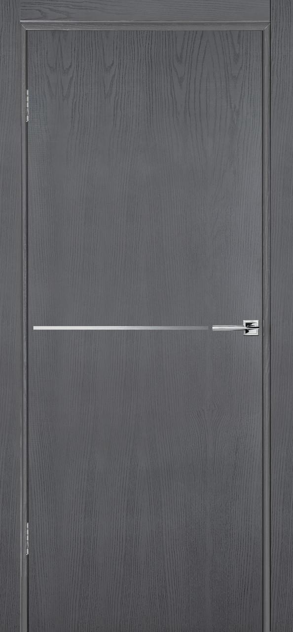 Межкомнатная дверь Флэш 6 серый ясень ПГ (противопожарная)