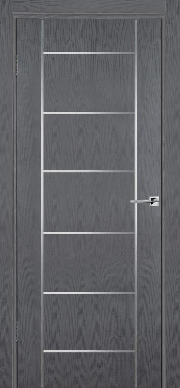 Межкомнатная дверь Флэш 8 серый ясень ПГ (противопожарная)