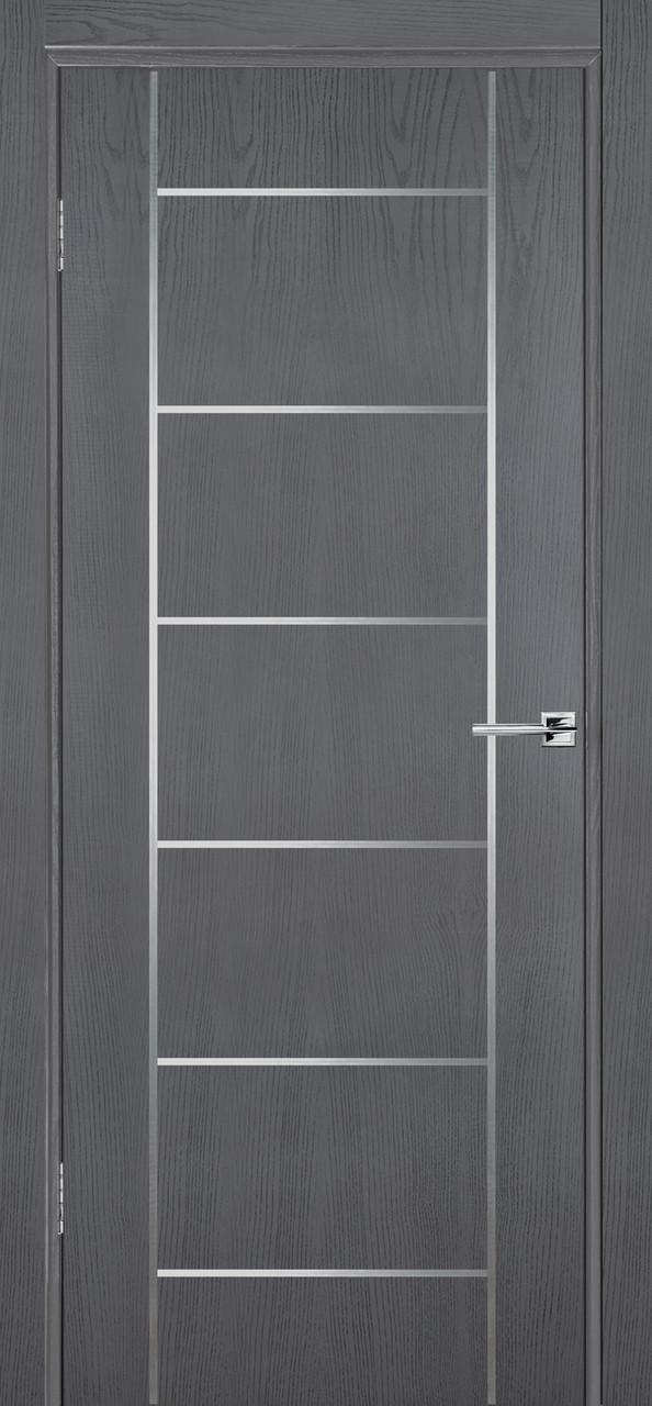Міжкімнатні двері Флеш 8 сірий ясен ПГ (протипожежна)
