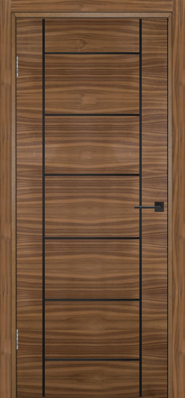 Міжкімнатні двері Флеш 8 горіх американський ПГ (протипожежна)