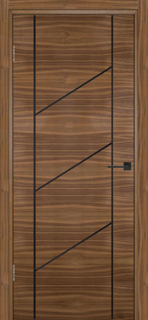 Міжкімнатні двері Флеш 12 горіх американський ПГ (протипожежна)