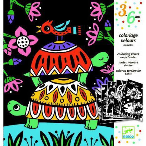 """DJECO Художественный комплект для рисования """"Забавные животные"""""""