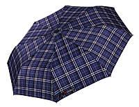 Синий зонт в клетку  H. DUE. O (полный автомат), арт. 204 BL