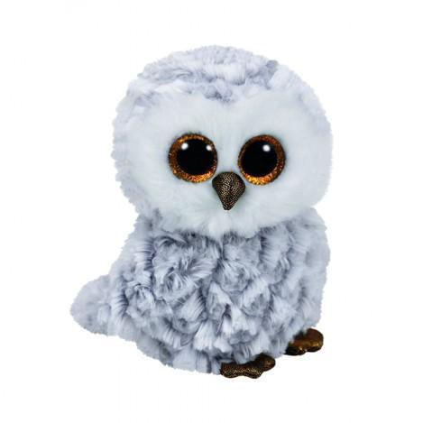"""Игрушка мягкая детская плюшевая Белая сова """"Owlette"""" TY Beanie Boo's, 50 см"""