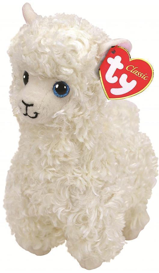 """Плюшевая детская мягкая игрушка Белая лама """"Lily"""" TY Beanie Babies, 25 см"""