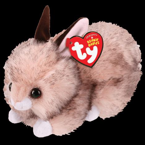 """Детская игрушка плюшевая мягкая Коричневый кролик """"Buster"""" TY Beanie Babies, 15 см"""