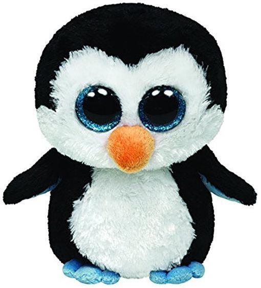"""Детская мягкая плюшевая игрушка Пингвин """"Waddles"""" TY Beanie Boo's, 15 см"""