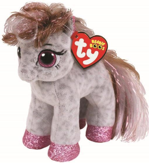 "Детская игрушка плюшевая мягкая Пятнистая пони ""Cinnamon"" TY Beanie Boo's, 15 см"