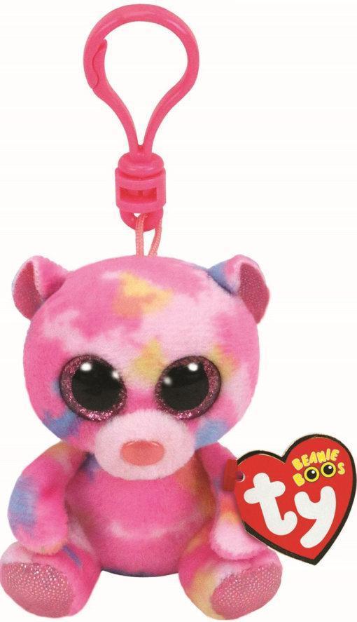 """Мягкая детская игрушка-брелок Разноцветный медвежонок """"Franky"""" TY Beanie Boo's, 12 см"""