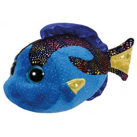 """Детская мягкая плюшевая игрушка Синяя рыбка """"Aqua"""" TY Beanie Boo's, 15 см"""