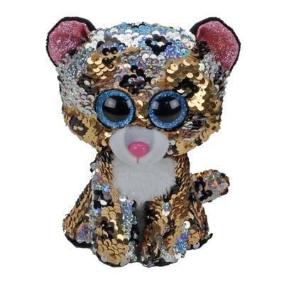 "Детская игрушка мягкая c пайетками плюшевая Леопард ""Sterling"" TY Flippables, 15 см"