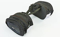 Мотосумка (2 кофра текстильных) DIANISE B1708 (PL, р-р 42х25х19см, черный-белый)