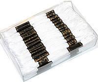 Мулине для вышивания 50 шт., белого цвета, нитки для вышивания