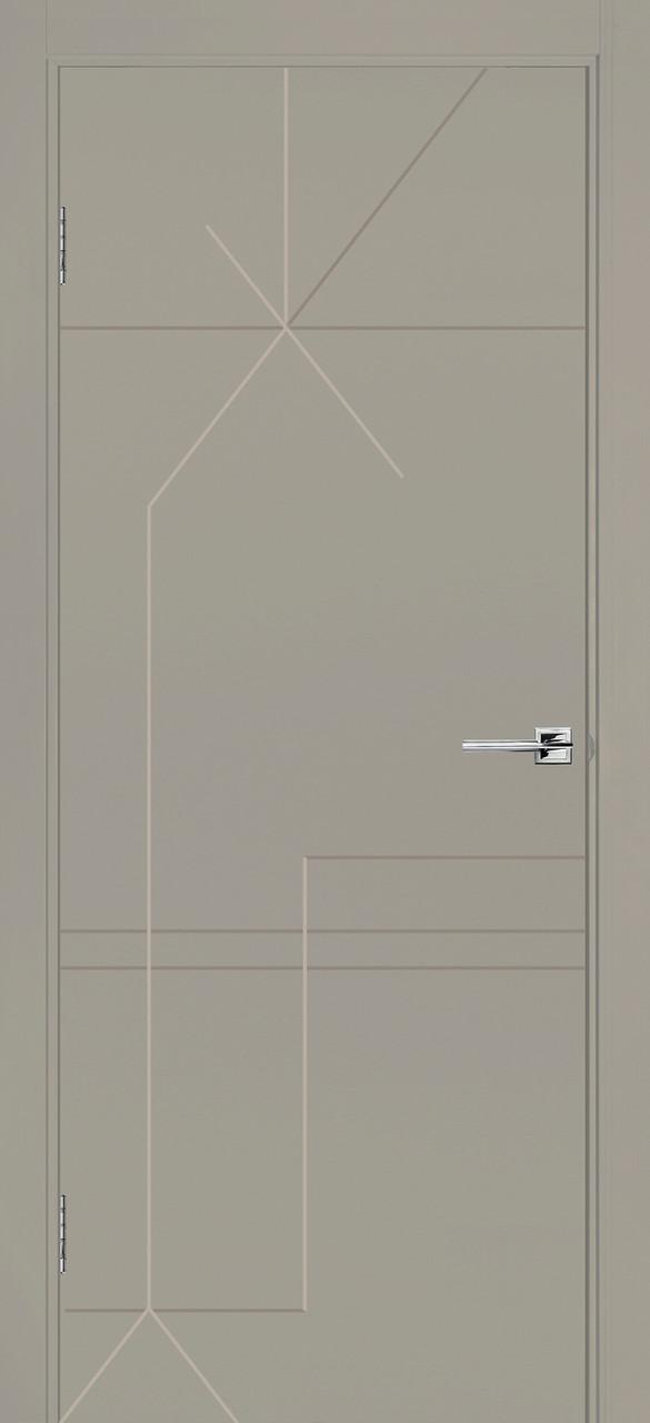 Межкомнатная дверь Галактика серая эмаль ПГ