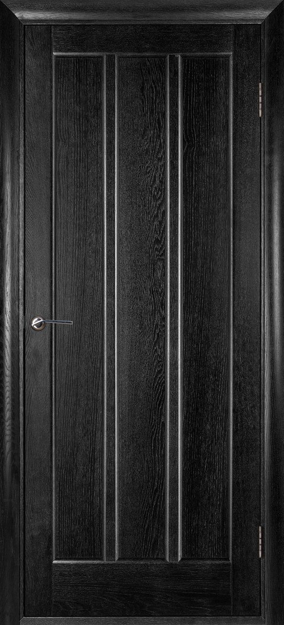 Межкомнатная дверь Троя черный ясень ПГ